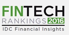 IDC Insights FinTech Rankings TOP 100 awards